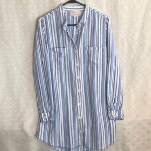 Cloth and stone denim dress shirt